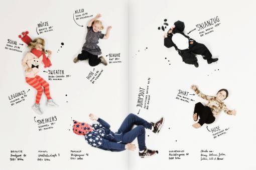 Modestrecke mit Minimal für Familie rockt (2. Doppelseite)