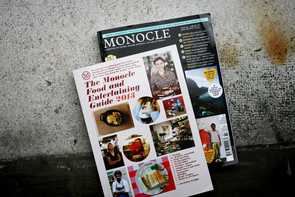 Monocle Food and Entertaining Guide 2013 mit Joseph Brot