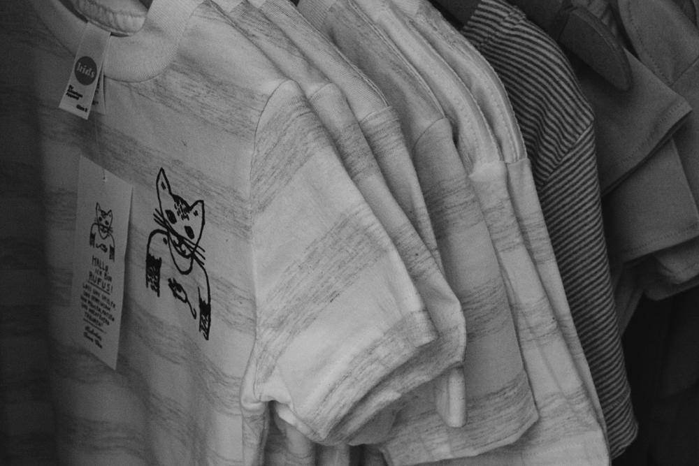 T-Shirts mit Rufus an der Kleiderstange!