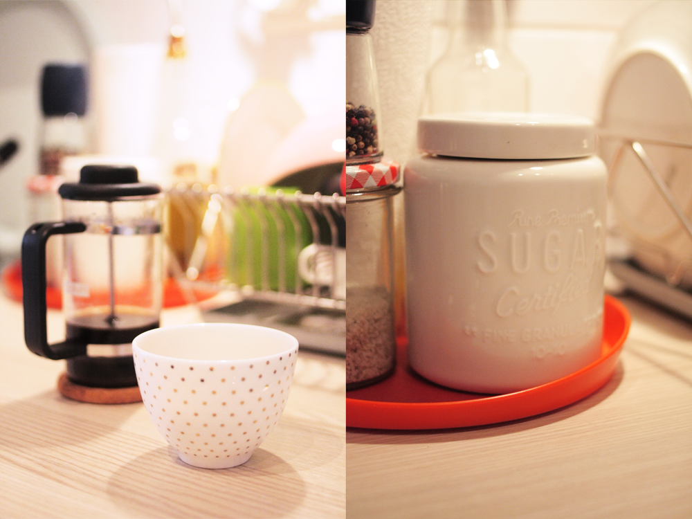 Details aus der Küche…und der «Prinzessinenbecher» aus Amsterdam…