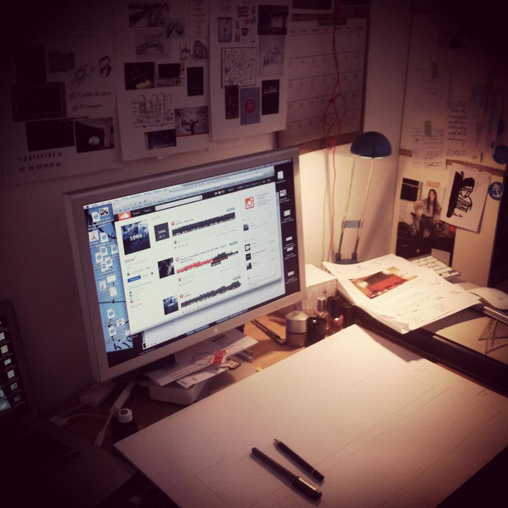 Mein Arbeitsplatz und die weiße Seite