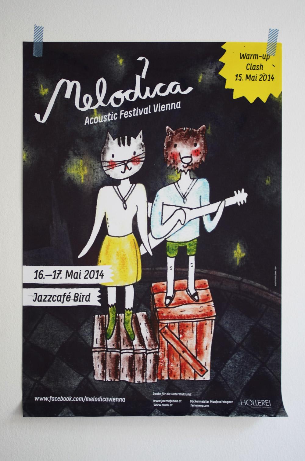 Das A2 Poster für das Festival. Davon gibts viele.