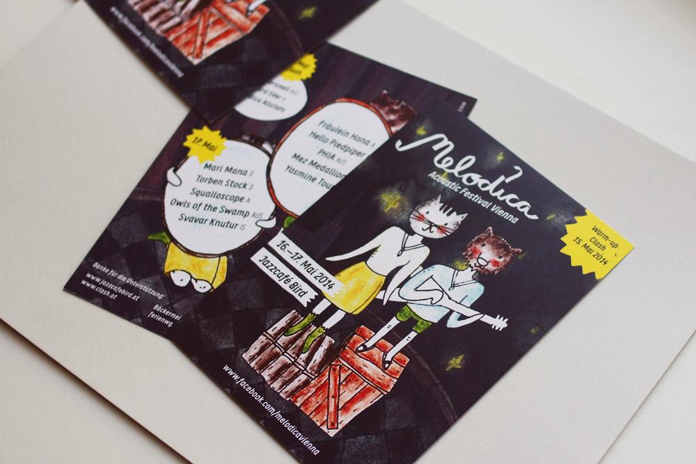 Postkarten für das Melodica Festival
