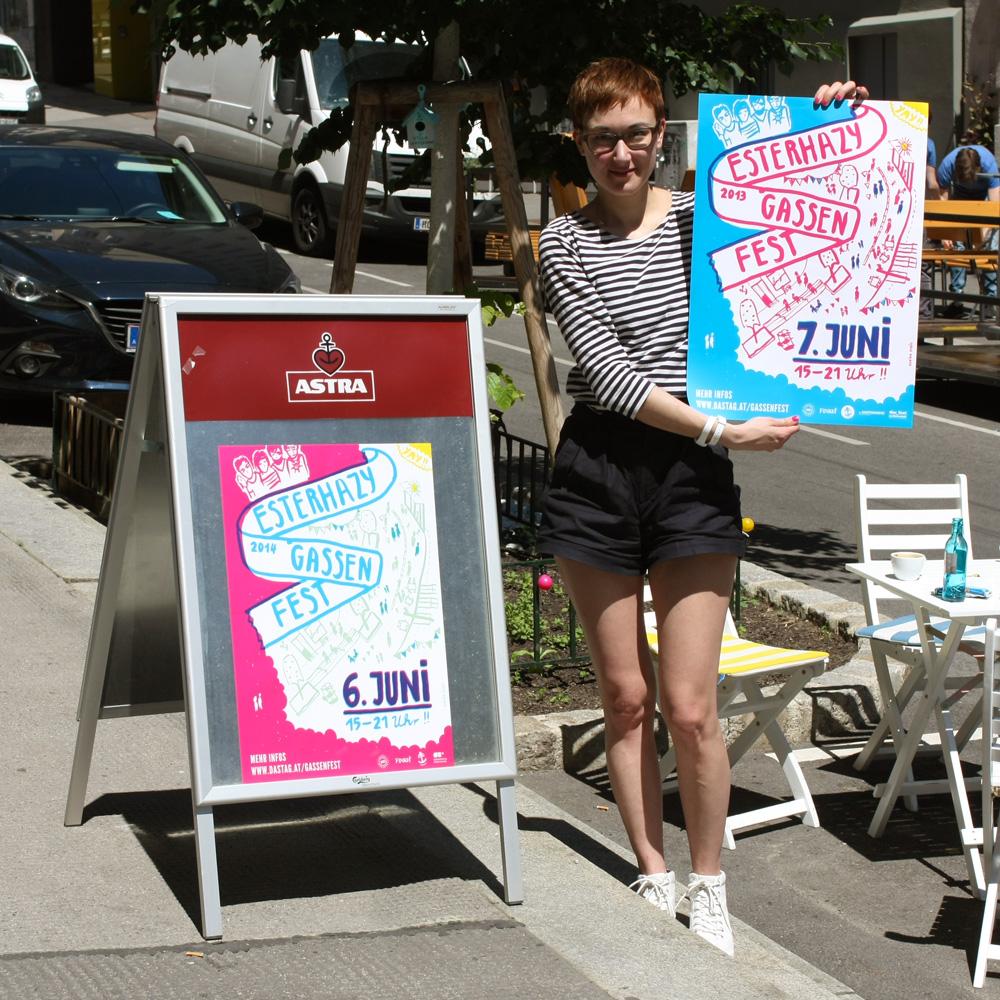 Geblendet von der Sonne, Elvira und die Gassenfest-Poster!