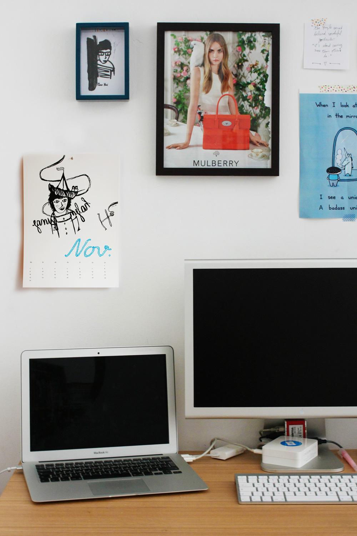 Kalender 2015 bei mir an der Wand neben Mulberry und Coco Vivi