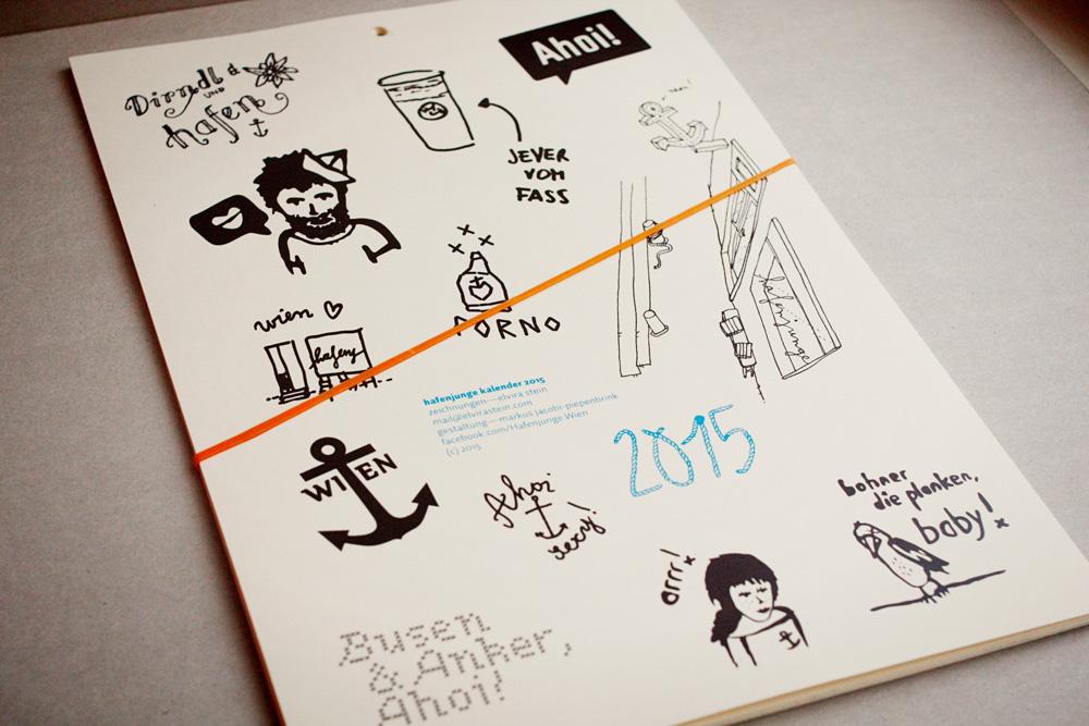 Die Rückseite mit noch mehr Zeichnungen