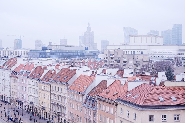 Blick über die Innenstadt Richtung Kulturpalast