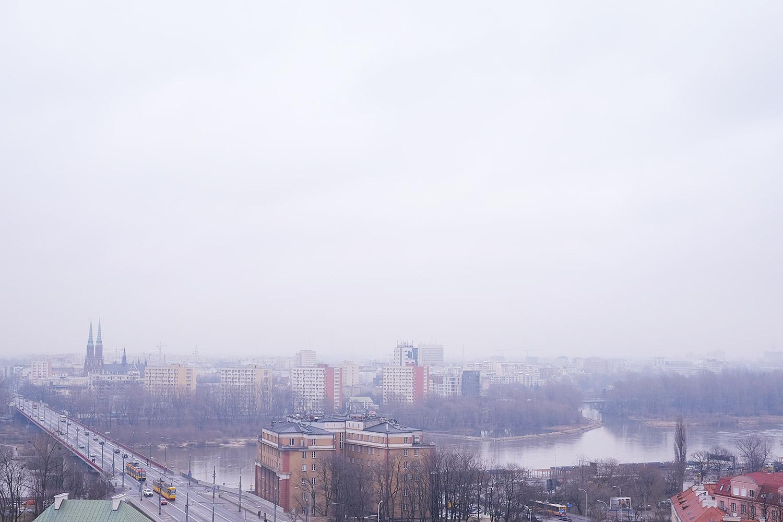 Blick über die Weichsel und Praga