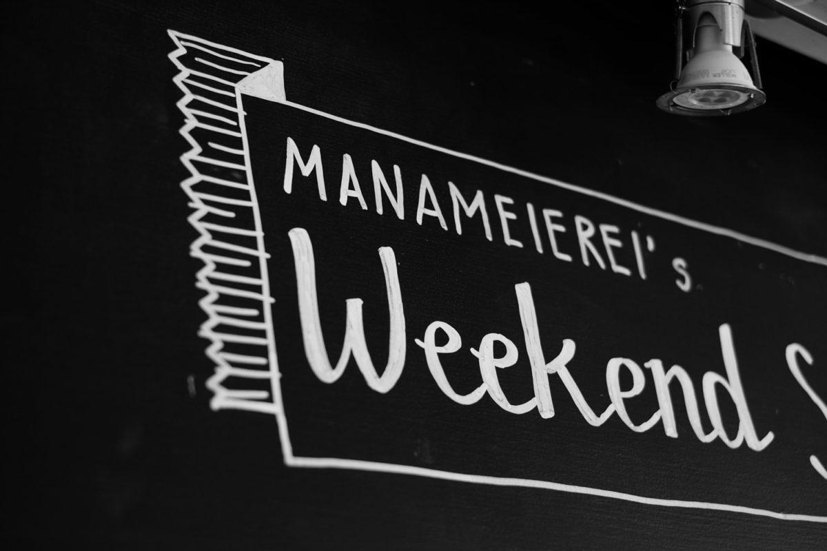 Weekend Special Typografie auf Tafel