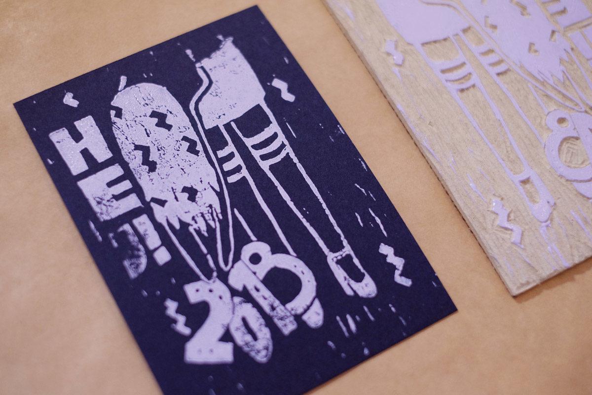 Eine Karte und die Druckvorlage