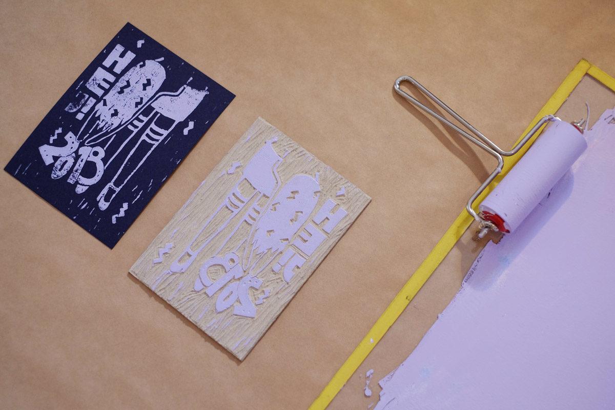 Linoldruck-Werkstatt